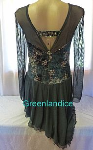 Lexie design in Dark Green Back View