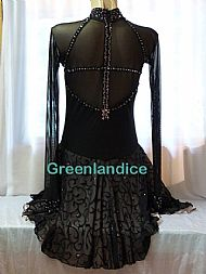 Lexie/Lisa design in Black/Champagne Back View