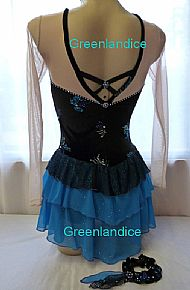 Lexie design Spanish dress Back View