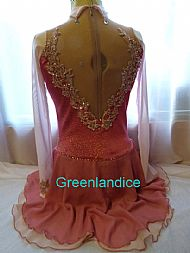 Lisa design in Coral pink Back View