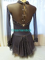 Lisa design in Hematite Back View