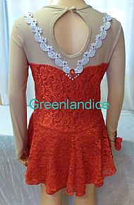 Marie design in Red Back View