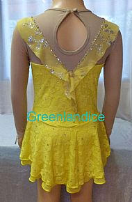 Marie design in Yellow Back View