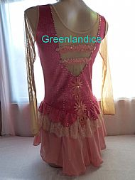 Rebecca design in Coral/Gold Back View