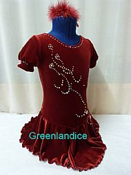 Sarah Design Dark Red