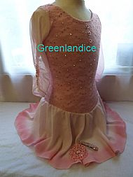 Sarah design pink lace dress