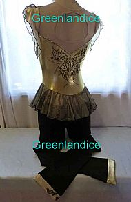 Kenzie design Unitard Gold/Black Full Length