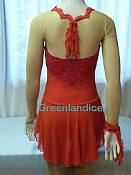 Alissa design in Red Back View