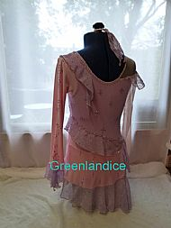 Victoria Tia design in Pink/Lilac Back View