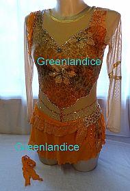 Yasmin design in Orange/Gold