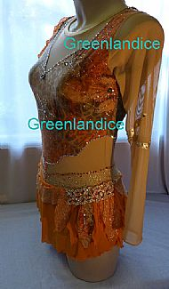 Yasmin design in Orange/Gold