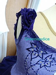 Purple Kimmie Design Dress Close Up