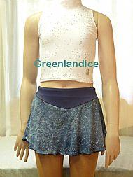 Grey Glitter Mesh Skirt IS
