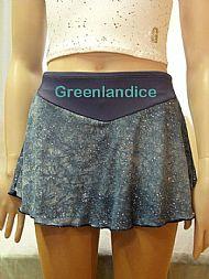 Grey Glitter Mesh Skirt