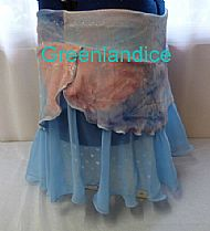 Julie skirt in pastel mix Side View