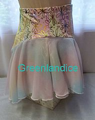 Pastel Flowers Skirt Side View