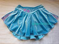 Turquoise Ice Skating Skirt Flat View