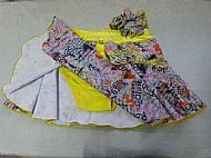 yellow with Grey Scribble Skirt