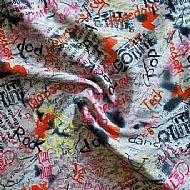 Grey Scribble Fabric