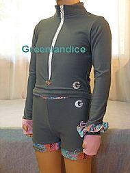 Grey Thermal top and shorts