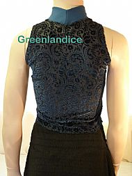 Teal/Black lace top Back View
