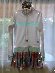White Forest Party Thermal Dress