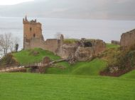 urquhart castle on loch ness - home of the loch ness monster, nessie