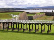 ardersier from historic fort george with drawbridge and ramparts