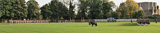 the royal regiment of scotland receiving the freedom of the highland region