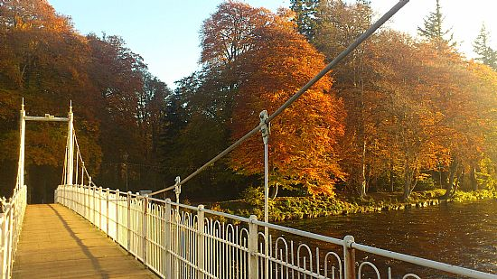 autumn colours on river ness inverness