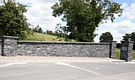 Black Limestone Guillotined walling stone