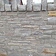 Siver White Quartzite Random Walling
