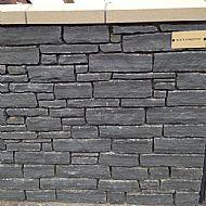 Black sandstone Walling
