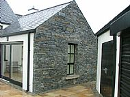 Rustic Black in use as House Wall