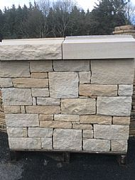 White and Buff sandstone mixed