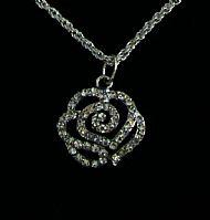 A9 Rose Glitter Pendant