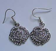 C3 Rose Glitter Earrings