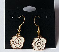 C1 White Rose Earrings