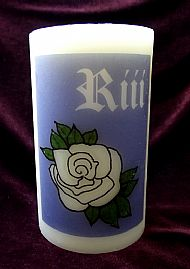 F4 RIII AND ROSE CANDLE BLUE