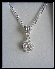 A1 WHITE ROSE NECKLACE