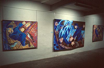 a time to keep, 1986, installation shot, (c)alan watson, b.1957, all rights reserved