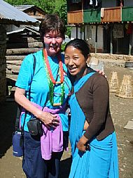 With KALYANI in the village of Salle, Nepal.