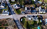 Drone view of the cottage location at the crossroads