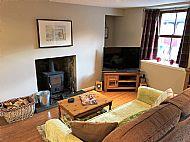 Livingroom with wood burnig stove