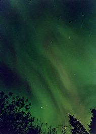 Aurora fills the sky