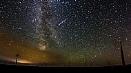 Milky Way & Persied Meteor
