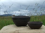 Bowls with Celtic Weave design