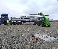 Unloading the steel