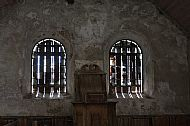 The beautiful windows in the ruined Tarskavaig Church