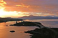 Sunset over the Skye Bridge from the Plock of Kyle
